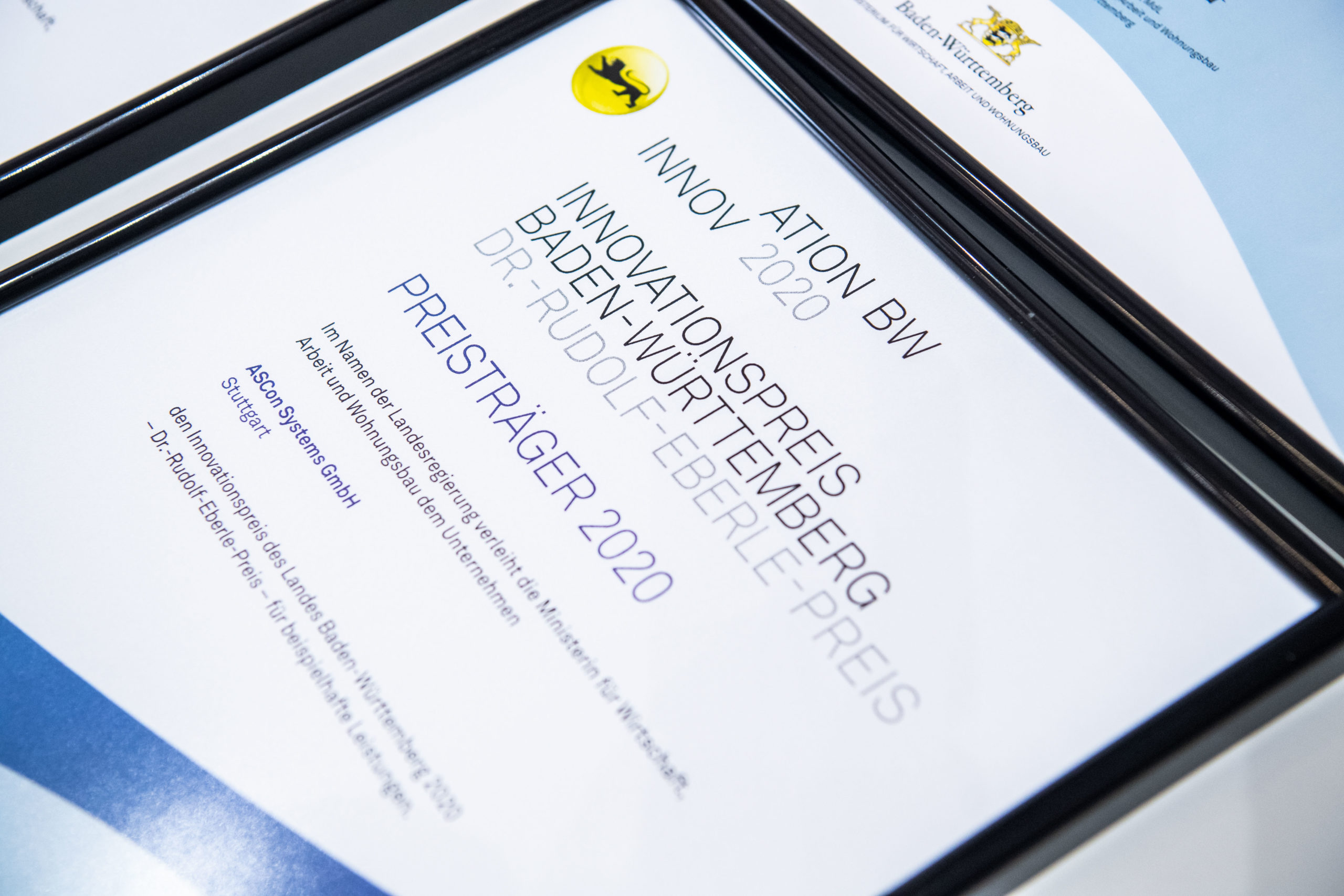 Innovationspreis des Landes BW 2020